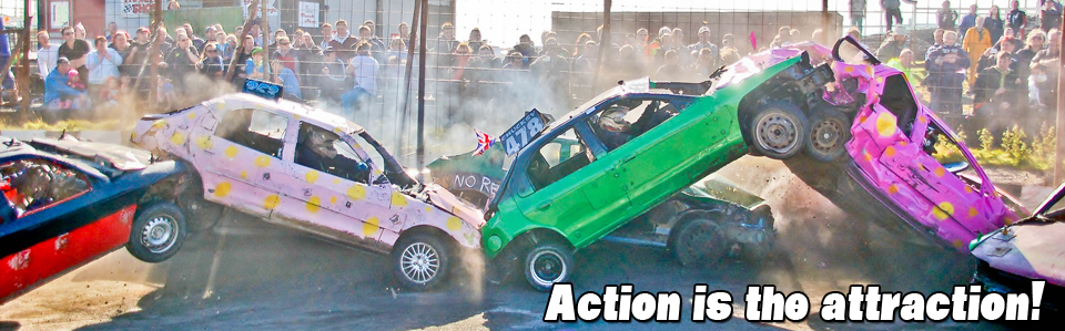 Warton Stock Car Club Banger Action