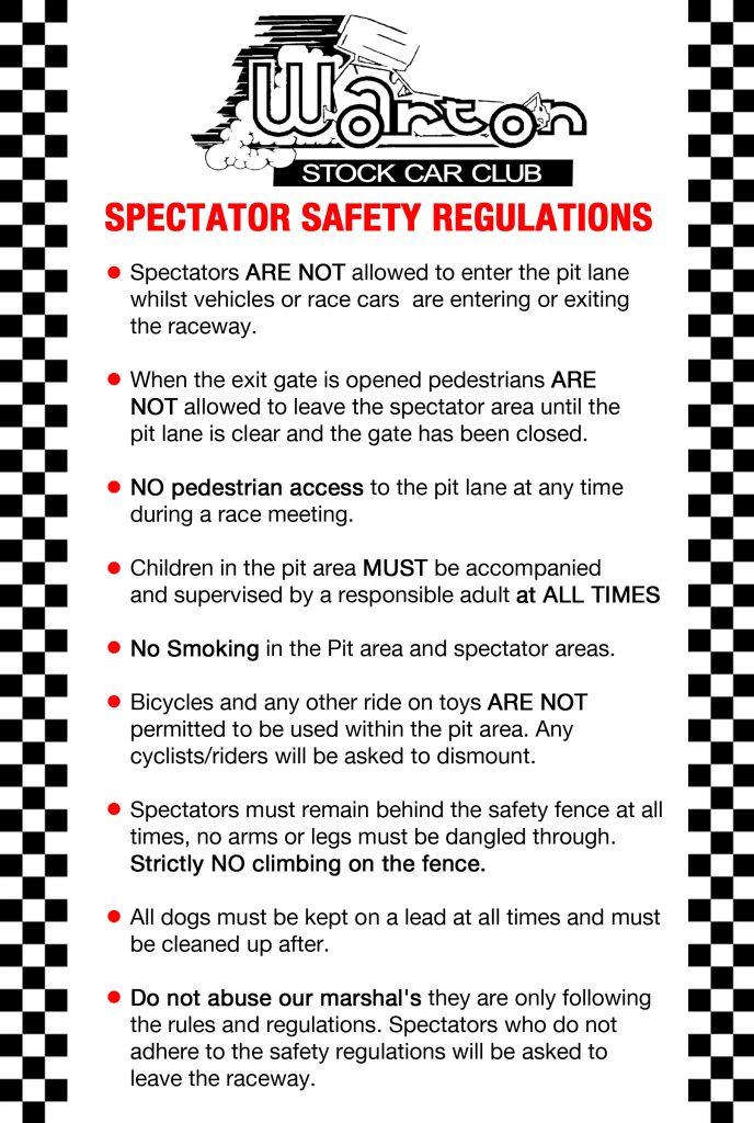 Spectator Safety Regulations